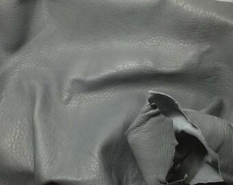 MEDIUM GRAY Supple Lambskin Leather Hide Piece #3