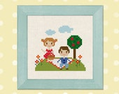 Picnic Day Cross Stitch Pattern PDF File