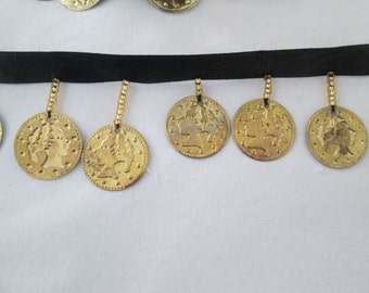 Beaded Gold Coin Trim