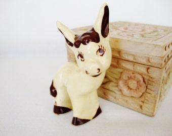 vintage donkey burro figurine california pottery walker ceramic