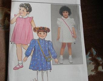 Vintage Girls Dress and Purse Pattern #6644 Uncut Size 6x