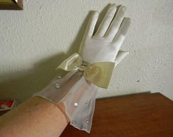 Vintage Satin Gloves