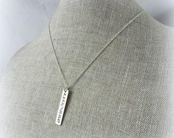 GPS Coordinates Necklace Location Necklace | Longitude Latitude Necklace | Geocache Necklace | Sterling Silver Travel Necklace