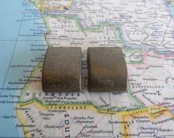 SALE! 2 small mid century brass metal handles