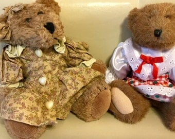 SALE - Vintage Boyd's Bear 1990 Collection Lot of Two Excellent Condition