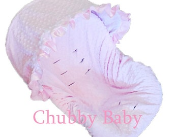 Infant Car Seat Cover, Baby Car Seat Cover  ALL minky colors are available.