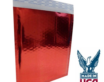 """Size #0 (6.5""""x9"""") Red Foil Bubble Mailer - Free Shipping!"""