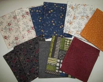 Fat Quarter Bundle Windham Fabrics, Dark Shades Fall Colors