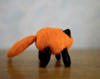 Firefox red panda Needle Felted Soft Sculpture 100% wool