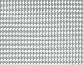 Storm and White Houndstooth Fabric - Premier Prints Black/White Houndstooth - Yardage