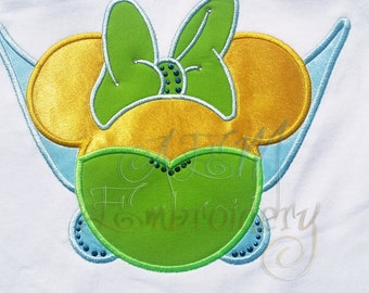 Personalized Tinkerbell Fairy Wings Short Sleeved Shirt