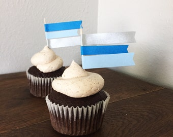 Multi Flag Cupcake Toppers