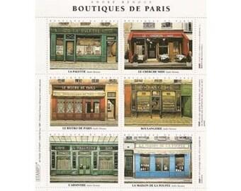 Artistamps/Faux Postes - Boutiques de Paris (Paris Shops) - Faux Postage