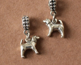 Sterling Silver RETRIEVER DOG Bead Charm for all Name Brand Add a Bead Bracelets -  3D