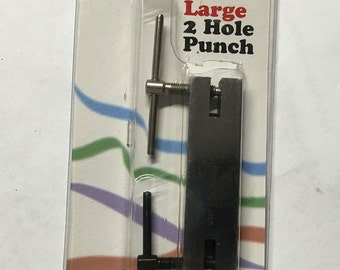 Hole Punch Tool 2 Hole Impress Art 1/8 and 5/32 Inch Holes