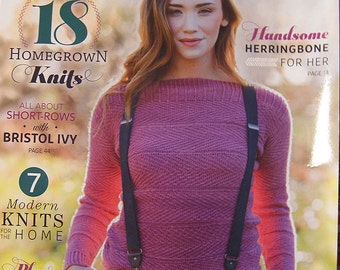 Interweave Knits 18 Homegrown Knits Handsome Herringbone for Her Modern Knits for the Home Artisan Yarns Spring 2016 issue