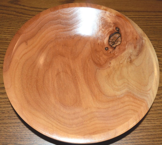"Solid Cherry Wood Bowl – ""No Pits"" – Wonderful Color in a Simple Form"