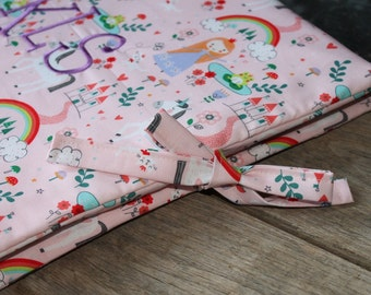 Custom scrapbook album fabric cover slipcover with personalization and monogramming