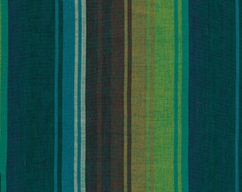 Kaffe Fassett Exotic Stripe Emerald Woven Cotton Fabric By The Yard