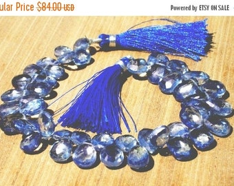 55% OFF SALE Full 8 Inches - Finest Quality Blue Mystic Quartz Faceted Pear Briolettes Size 13x9 - 8x6mm approx