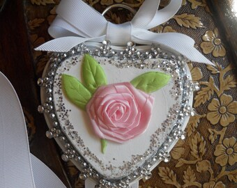 REDUCED -Shabby Chic Hair Bow Holder
