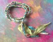 Gorgeous Bohemian Braided Silk Soft Goddess Strand (necklace or wrap bracelet)