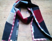 Unisex Corduroy Scarf, handmade in Maine, upcycled, eco-friendly, unisex gift