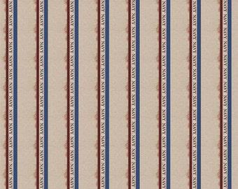 Navy Stripes 12 x 12 Paper Scrapbook Customs
