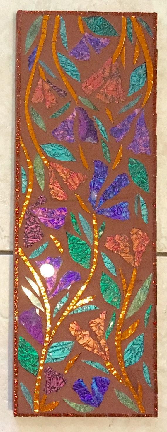 "7"" X 20"" Southwestern Garden Glass Mosaic Wall Hanging..."