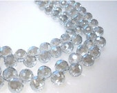 50 % Off Sale 20 pcs 8mm Pale Blue Faceted Round Briolettes, Top Drilled Round Briolette Beads GB 717
