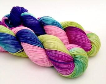 ELIA - Hand Dyed Yarn - High Twist Sock Yarn Sport - Ready to Ship - Vivid Yarn Studio