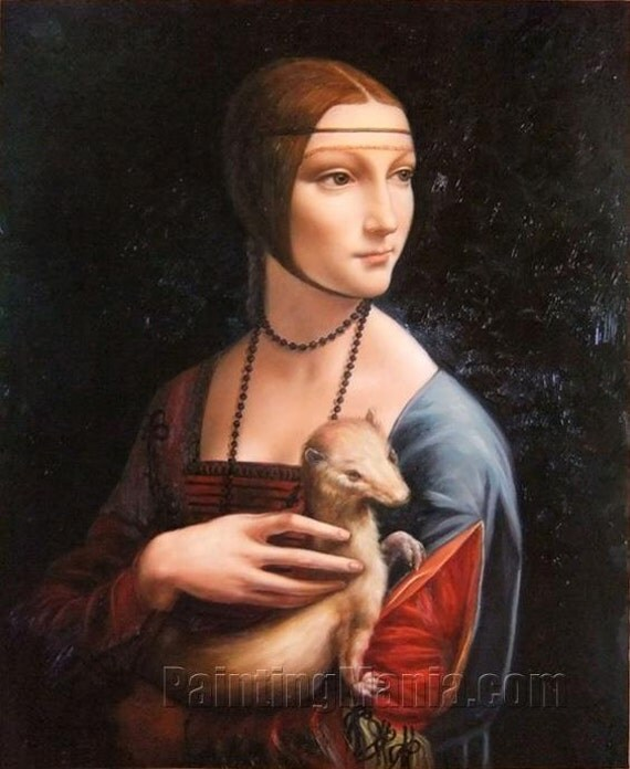 portrait of cecilia gallerani lady with an ermine leonardo. Black Bedroom Furniture Sets. Home Design Ideas