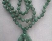 Vintage Jade Pendant Necklace