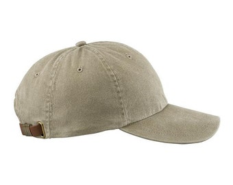 KHAKI HAT - One Women or Men Adams Baseball Cap  - 24 Color Hats Available - Price Apparel Embroidery