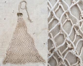 vintage hand-tied net fishing creel