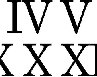 """Farmhouse Clock 8"""" Roman Numerals  Decal or Stencils  single use stencil"""