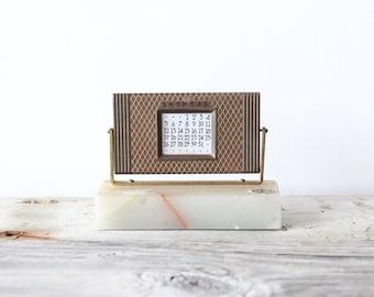 Brass & Onyx Perpetual Desk Calendar