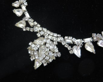 Rhinestone Necklace - Jewels by Julio, Bridal, Wedding, Costume Jewelry, Clear Rhinestones