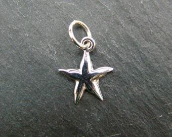 Sterling Silver Starfish Pendant 13mm (CG6162)