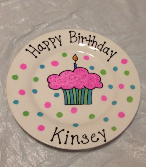 Happy Birthday Plate Personalized Plate For Kids Hand