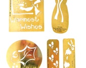 5 Brass Christmas Lasting Impressions stencils