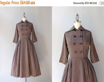 STOREWIDE SALE 1950s Dress / Vintage 50s Double Breasted Day Dress / Soft Cotton 1940s Dress