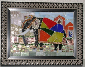 Java the Elephant, an Original OAK Mosaic