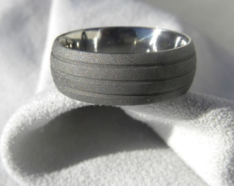 Ready to Ship, Titanium Ring, Wedding Band 8mm size 10.75, Clearance