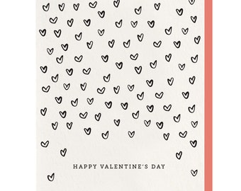 Letterpress 'Valentine's Day Hearts' Card