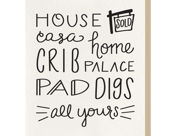 Letterpress 'House' Greeting