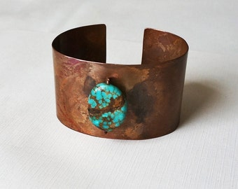 Copper and Turquoise Cuff Bracelet