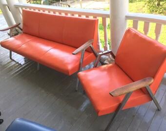 Reduced.....Rare mid century modern sofa set