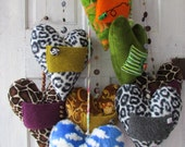Quirky home deocr unique love gift Kid's room Heart Messenger with knitted pocket for Love notes and endearing gift items HEARTAROO  MOBILE