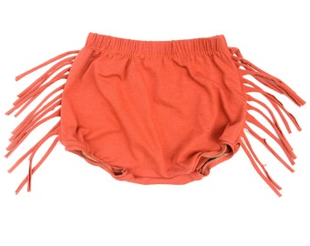 Fringe Shorts- Orange